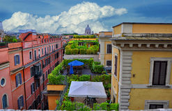 Roofs of Rome, Italy stock image