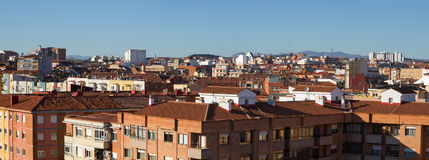 Roofs and Rooftops City. Panorama of city roofs and rooftops in Leon Spain Royalty Free Stock Photo