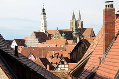 Roofs of Rothenburg Royalty Free Stock Photo