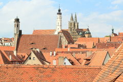 Roofs of Rothenburg ob der Tauber Stock Images