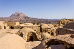 Roofs of ruins of Kharanagh Village, Iran Stock Image