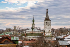 Roofs of russian town Suzdal Stock Images