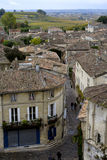 Roofs of saint-emilion. Roofs of buildings of saint-emilion at overcast day stock photo