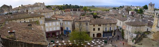 Roofs of saint-emilion. Roofs of buildings of saint-emilion at overcast day royalty free stock photo