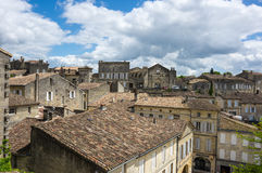 Roofs of Saint-Emilion. SAINT-EMILION, FRANCE - MAY 06, 2015: Saint-Emilion - one of the main red wine production areas of Bordeaux region, France. The town is a royalty free stock photos