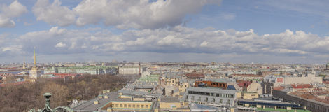 Roofs of Saint Petersburg panoramic view Royalty Free Stock Image