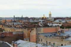 Roofs of Saint-Petersburg royalty free stock photography