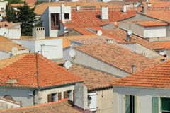 Roofs at Saintes-Maries-de-la-mer, Camargue, France Royalty Free Stock Photo