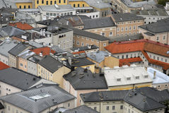 Roofs of Salzburg Royalty Free Stock Photography