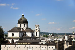 Roofs in Salzburg Stock Photo