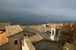 Roofs of San Marino Royalty Free Stock Photography