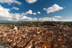 Roofs, Santa Croce and Town hall of Florence Royalty Free Stock Photos