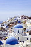 Roofs of Santorini Stock Image