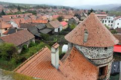 Roofs seen from Sukosd-Bethlen Castle Stock Image
