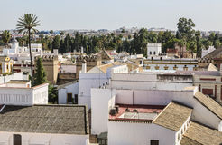 Roofs of Seville. Cityscape with roffs of the buildings in Seville, Spain Stock Images