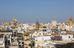 Roofs of Seville. Cityscape with roffs of the buildings in Seville, Spain Royalty Free Stock Photography