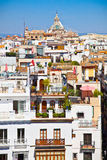 Roofs in Seville town, Andalusia, Spain Royalty Free Stock Photos