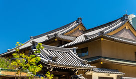 Roofs of a shinto shrine in Nara. Japan stock image