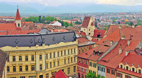 Roofs of Sibiu old town, Romania Royalty Free Stock Photography