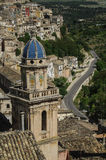Roofs of Sicily. Bell tower at Ragusa, Sicily, Italy Royalty Free Stock Photos