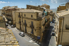 Roofs of Sicily. Builfings at Caltagirone, Sicily, Italy Royalty Free Stock Images