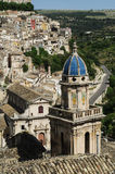 Roofs of Sicily. The tower of church at Ragusa, Sicily, Italy Royalty Free Stock Image