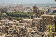 Roofs of Sicily. View of Caltagirone, Sicily, Italy Royalty Free Stock Photography