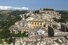 Roofs of Sicily. View of Ragusa, Sicily, Italy Royalty Free Stock Images