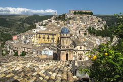 Roofs of Sicily. View of Ragusa, Sicily, Italy Royalty Free Stock Photography