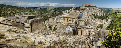Roofs of Sicily. View of Ragusa, Sicily, Italy Stock Images