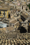 Roofs of Sicily. Zoom at Ragusa, Sicily, Italy Stock Image