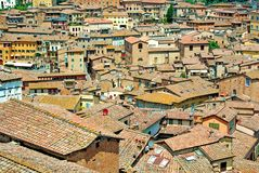 Roofs of Siena, Italy Stock Photography