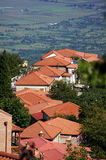 Roofs of Signagi town Stock Photography