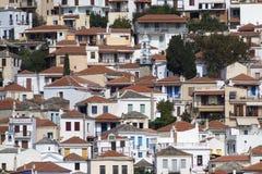 Roofs of Skopelos Town, Sporades Islands. Detail of Roofs of Skopelos Town in Greece Stock Photos