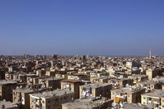 Roofs of slum housing in Damietta,Egypt. Old houses of poor people in Egypt Royalty Free Stock Images