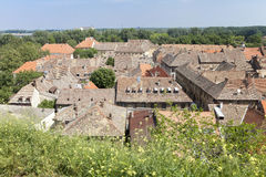 Roofs of a small serbian town Stock Photography