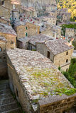 Roofs of Sorano, Tuscany Stock Images