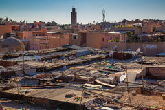 Roofs Souk in Marrakech Stock Images