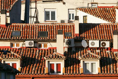 Roofs of spain. Some interesting roofs in madrid in spain Royalty Free Stock Images