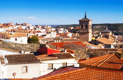 Roofs  of spanish town.  Chinchilla Stock Photography