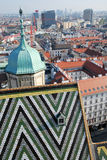 Roofs of St Stephen's Cathedral of Vienna Royalty Free Stock Photo