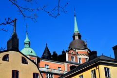 Roofs in Stockholm Royalty Free Stock Photo