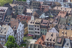Roofs of Strasbourg city, Alsace, France Stock Photography
