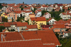 Roofs of a suburb. Royalty Free Stock Photo