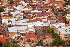 Roofs in tbilisi Royalty Free Stock Images