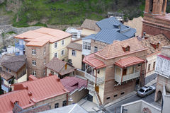 Roofs in Tbilisi, Georgia. Stock Image