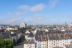 Roofs of tenements in Frankfurt am Main. By day Royalty Free Stock Photography