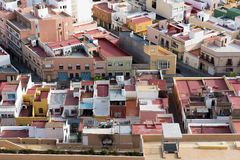 Roofs and terraces of the small town of spain poor neighborhood Stock Photography