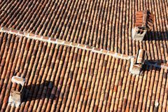 Roofs texture Stock Image