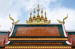 Roofs Thai temple Royalty Free Stock Photo